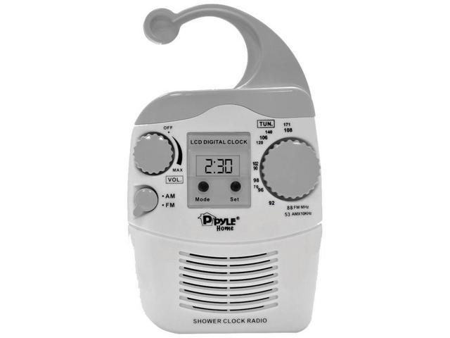Pyle PSR6 Hanging Waterproof AM/FM Shower Clock Radio
