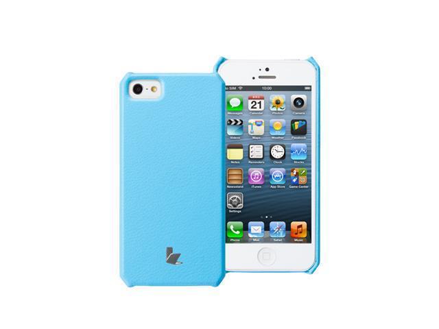 Jisoncase Classic Premium Leatherette Wallet Case for iPhone 5, JS-IP5-001-Blue