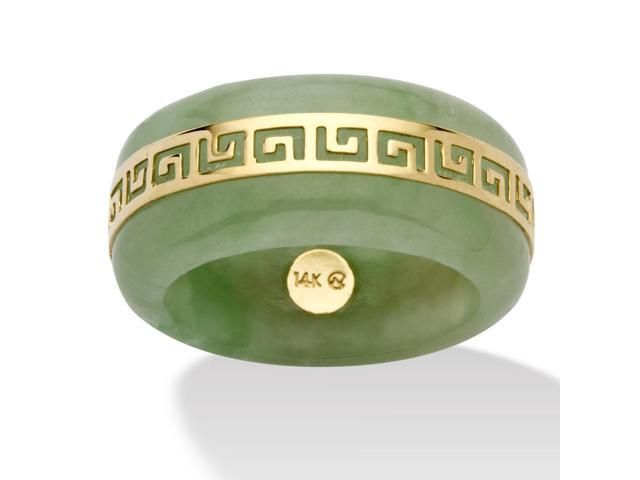 PalmBeach Jewelry Genuine Green Jade 14k Yellow Gold