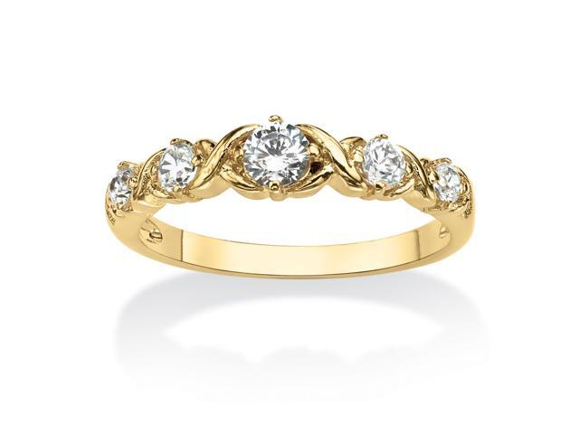 PalmBeach Jewelry Round Birthstone 14k Gold-Plated