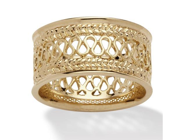 PalmBeach Jewelry Open Weave Decorative Ring in 14k Gold-Plated