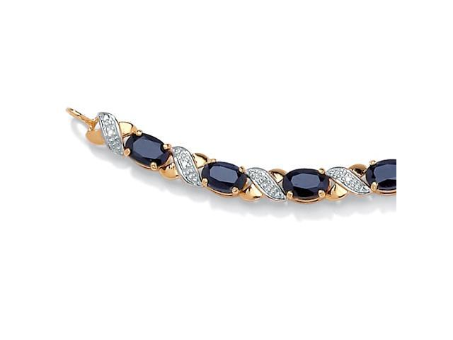 8.40 TCW Oval-Cut Genuine Blue Sapphire 10k Yellow Gold