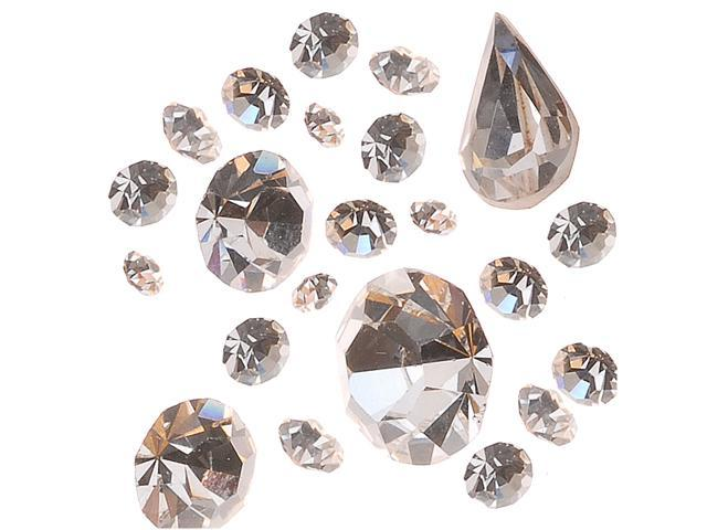 Preciosa Czech Crystal Chaton Mix - Assorted Shapes And Sizes -