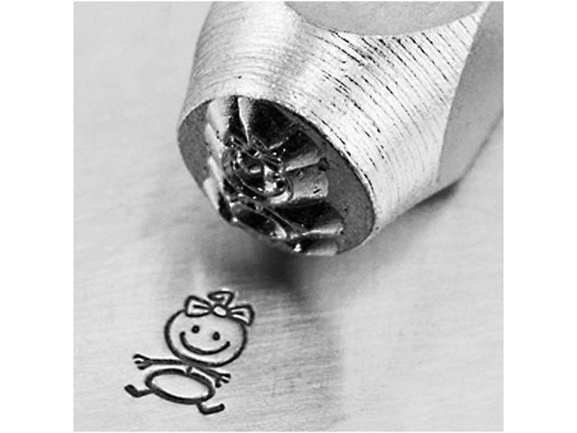 Impress Art Metal Punch Stamp 'Baby Girl' 6mm (1/4 Inch) Design