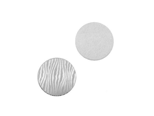Lillypilly Aluminum Circle Stamping Silver W/ Zebra Print 16mm (2)