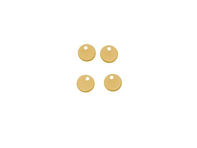 Solid Brass Blank Stamping 'Round Pailettes' Flat Circles 5mm (4)