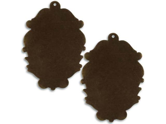 Vintaj Brass Altered Blank Victorian Silhouette 49mm (2