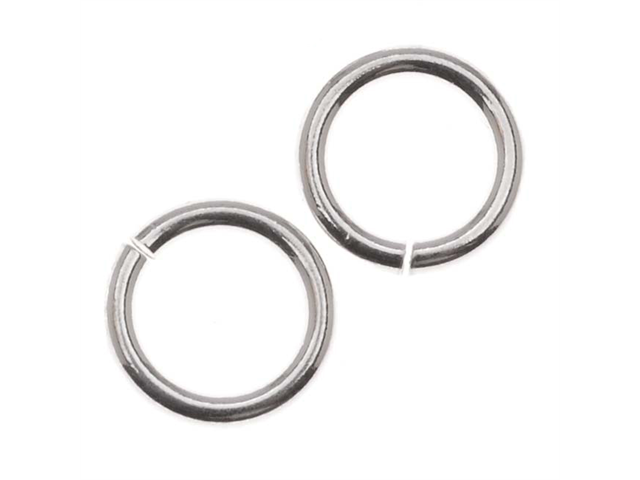 Sterling Silver Heavy Open Jump Rings 8mm 17 Gauge (6)