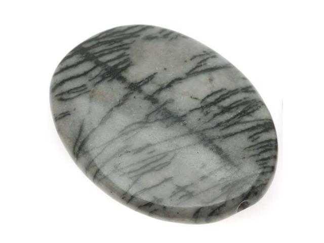 Matrix/Picasso Jasper 29X38mm Large Oval Focal Bead - 2