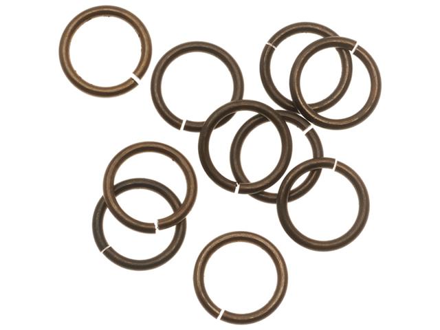 Vintaj   Natural Brass Jump Rings 10mm Heavy 15 Gauge (10