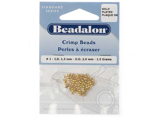 Beadalon Gold Plated Crimp Beads 1.3mm (85 Beads)