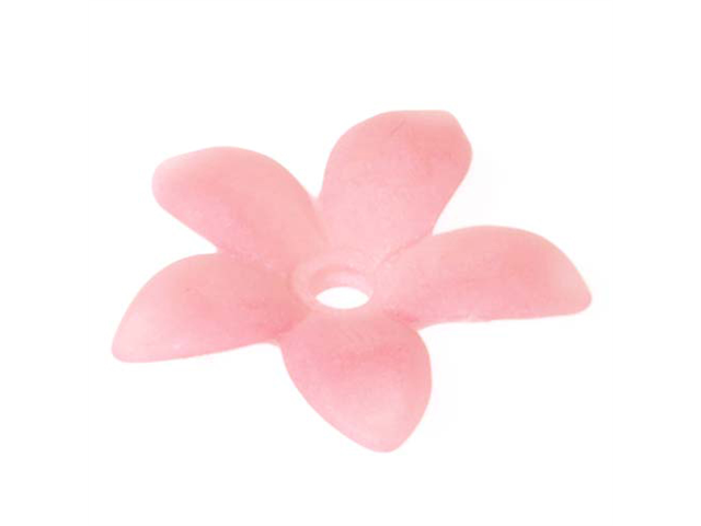Lucite Gilia Star Flowers Matte Rose Pink 17mm (10)