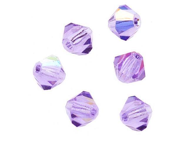 Preciosa Czech Crystal Bicone Beads 4mm 'Violet AB' /50