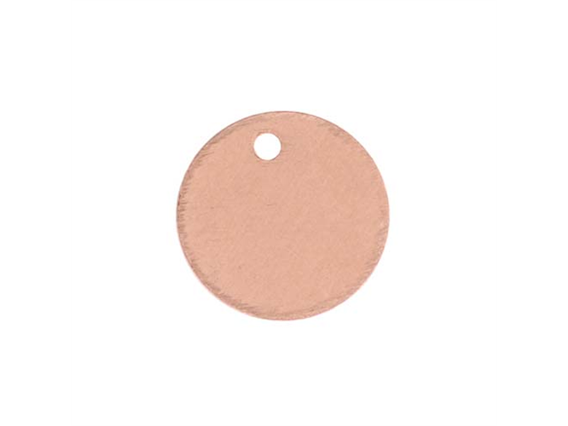 Solid Copper Blank Stamping Circle Tag Charms 9mm X4