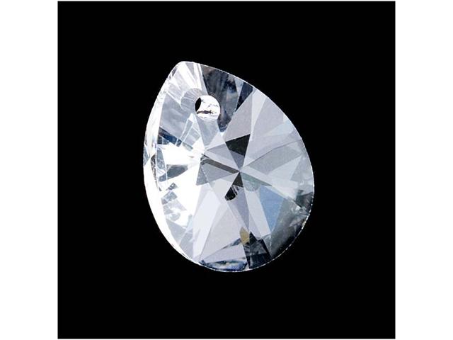 Swarovski Crystal, #6128 Mini Pear Pendants 12mm, 4 Pieces, Crystal