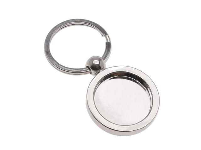 Aanraku, Key Holder, 25mm Bezel For Resin And Glass Domes, 1 Piece, Silver Tone