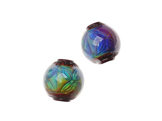 Mirage Color Changing Mood Beads - Round Ruby 12mm /2