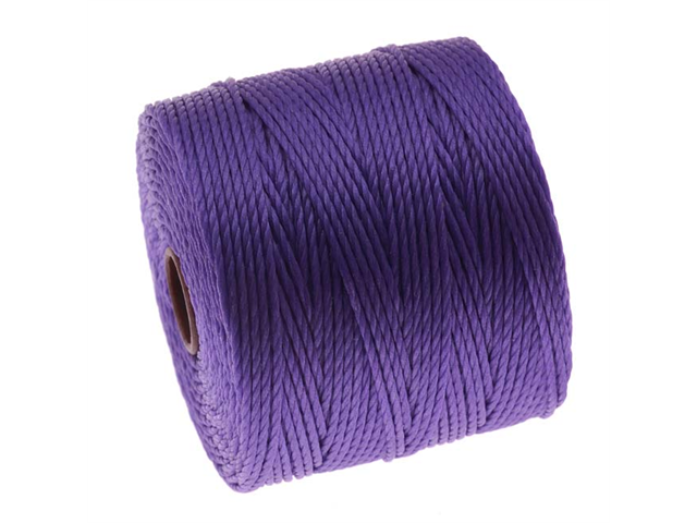 BeadSmith Super-Lon Cord - Size #18 Twisted Nylon - Violet / 77 Yard Spool