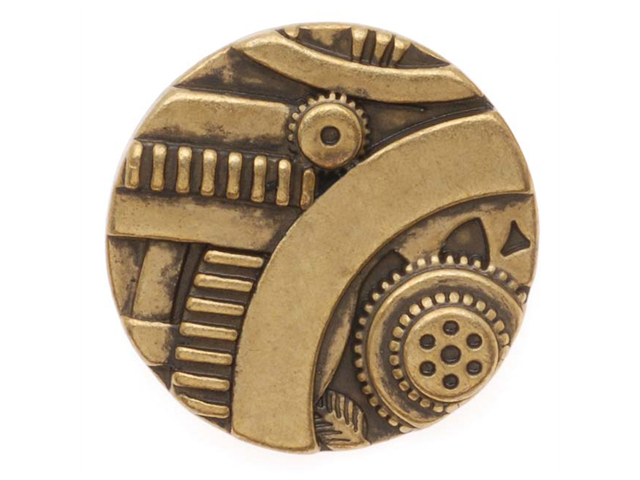Antiqued Brass Steampunk Design Button 22.5mm (1)