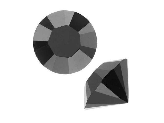 Swarovski Crystal, #1028 Xilion Round Stone Chatons pp24, 36 Pcs, Jet Unfoiled