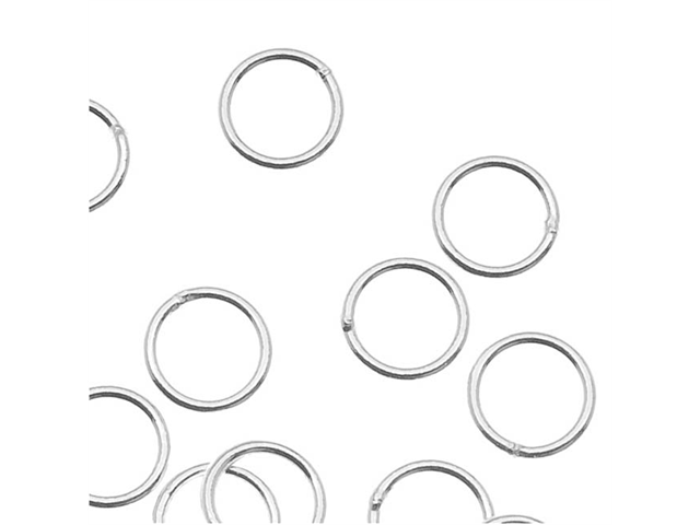 Silver Filled Closed Jump Rings 5mm 22 Gauge (20)