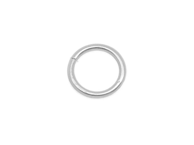 Silver Filled Open Jump Rings 8mm 16 Gauge (6)