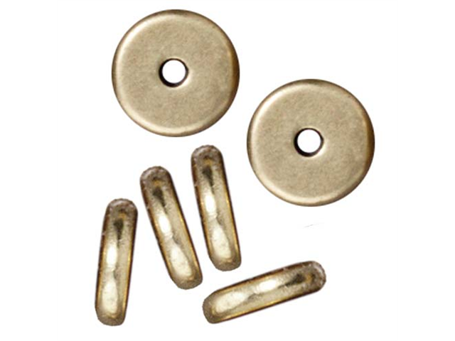 Brass Oxide Finish Disk Heishi Spacer Beads 7mm (10)