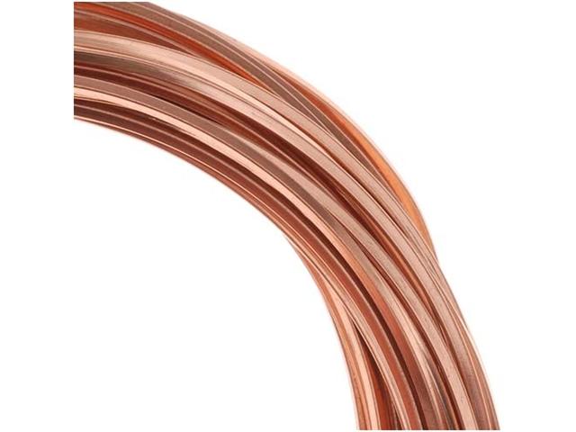 Copper Wire 18 Gauge Square Dead Soft (1 Oz / 9.6 Ft)