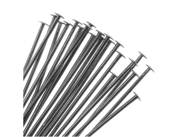 Gun Metal Head Pins 1.5 Inches / 22 Gauge (50)