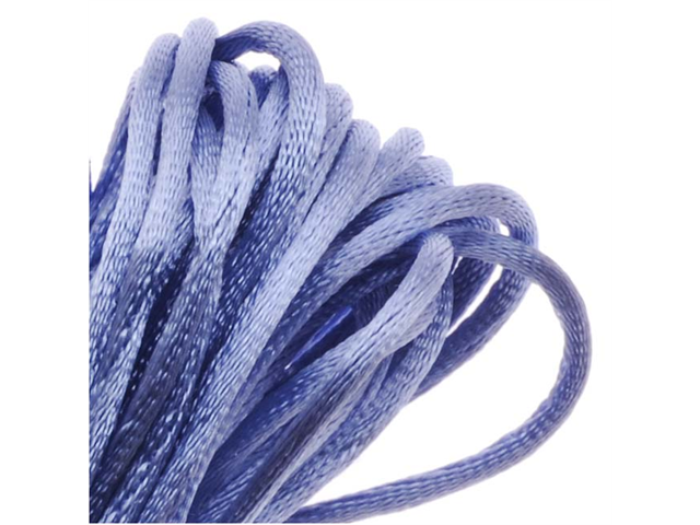 Rayon Satin Rattail 1mm Cord - Knot & Braid - Periwinkle Purple (6 Yards)