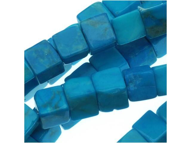 Dyed Howlite Gemstone Beads, Cube 4mm, 16