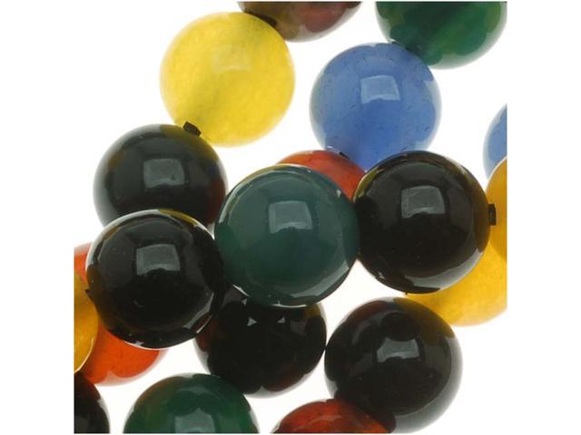 Agate Color Mix - 6mm Round Beads /  15.5 In. Strnd