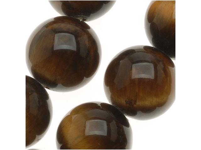 Tiger Tigers Eye Gemstone Round 10mm Brown Beads /15.5