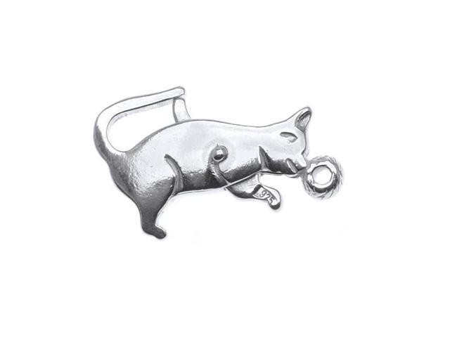 Sterling Silver Kitty Cat Shaped Lobster Clasp  (1)