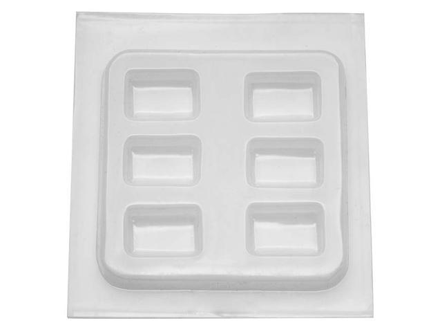 "Resin Jewelry Reusable Plastic Mold 6-1/2""x7""-Rectangles 6 Shapes"