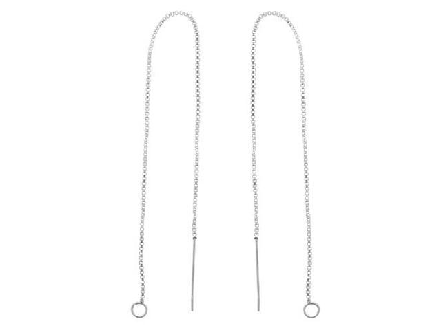 Sterling Silver Ear Threads Threaders 5 In.Chain W Loop