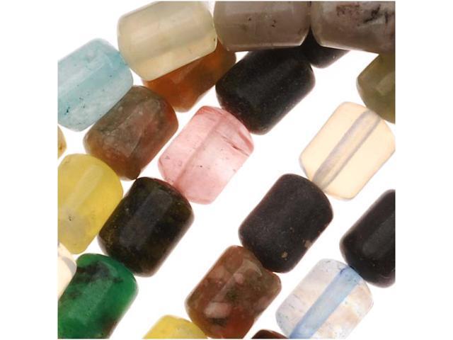 Gemstone Bead Lot Mix 4X6mm Barrel Beads /16