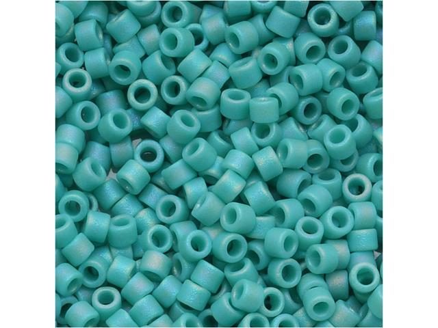 Miyuki Delica Seed Beads 11/0 'Opaque Turquoise Matte AB' DB878 7.2 Grams