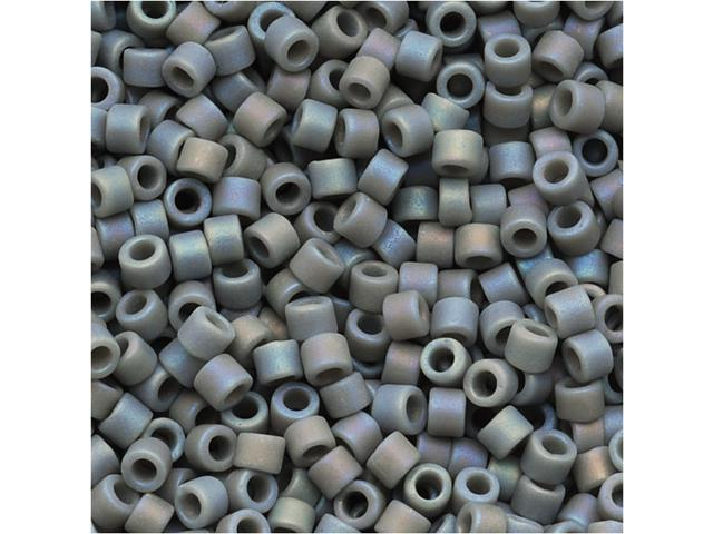 Miyuki Delica Seed Beads 11/0 Opaque Lt Grey Matte AB DB882 7.2 Grams