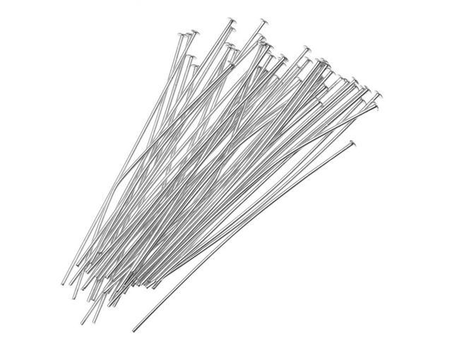 Silver Plated Head Pins 2 Inches 24 Gauge (50 Pieces)