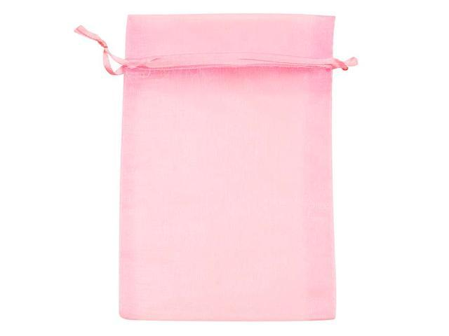 Light Pink Organza Drawstring Gift Bags 4X6 Inch  (12 Bags)