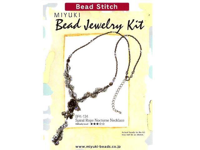 Miyuki Jewelry Bead Kit Spiral Rope Nocturne Necklace
