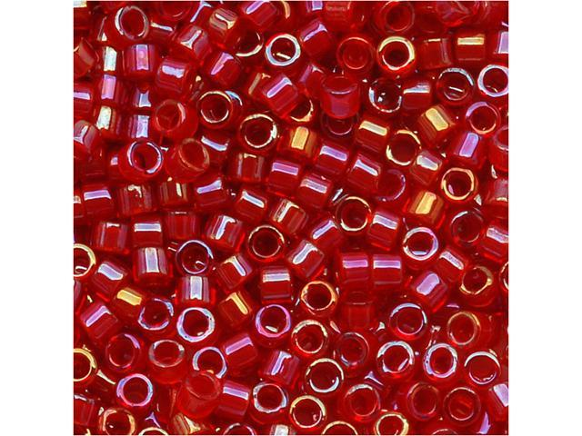 Delica 11/0 Seed Beads Red Lined Red AB Db295 7.2Gr