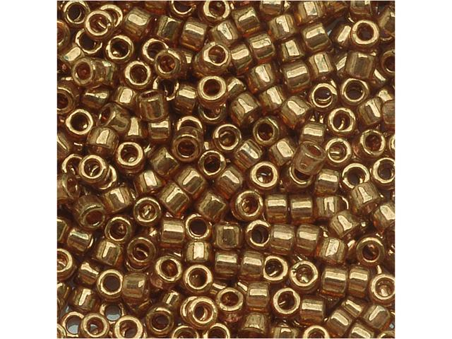 Delica 11/0 Seed Bead Trans Met Rose Gold Luster Db115
