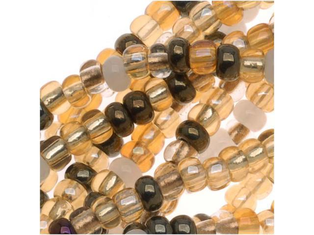 Czech Seed Bead 8/0 Honey Butter Cream Gold Mix 1/2Hank