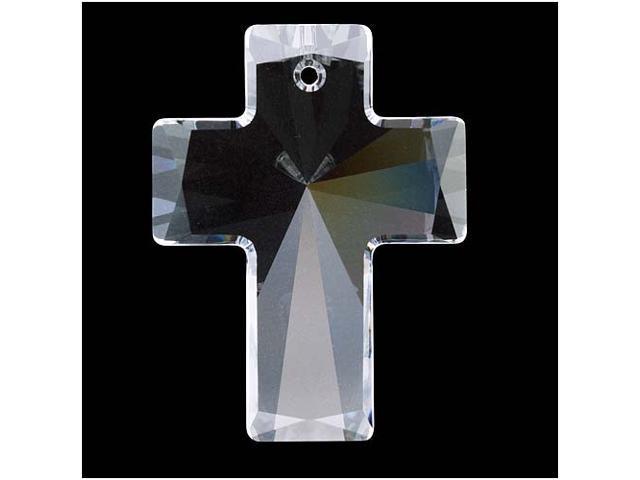 Swarovski Crystal, #6864 Cross Pendant 40x30mm, 1 Piece, Crystal