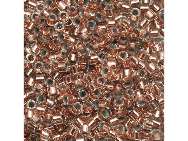 Delica Seed Beads 15/0 Copper Lined Crystal Dbs037 4Gr