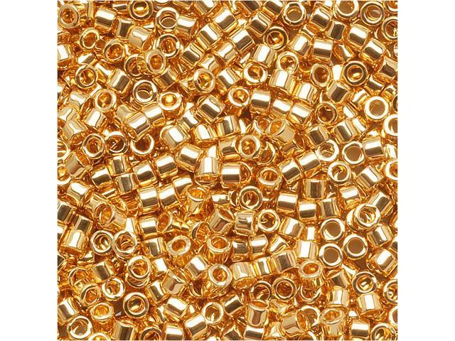 Delica Seed Bead 15/0 24 Karat Gold Plated Dbs031 (4 Gram)