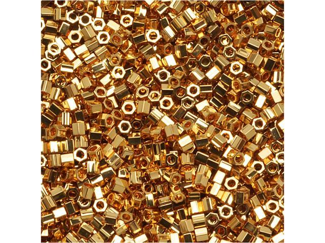 Delica Seed Bead Hex 15/0 24K Bright Gold Dbsc031 4Gr