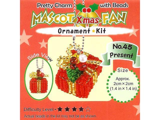 Miyuki Bead Kit Christmas Ornament Charm Wrapped Gift
